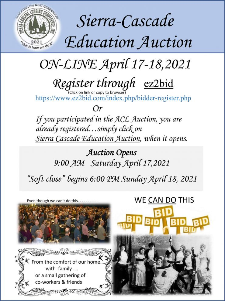 2021 SCLC Education Auction Poster